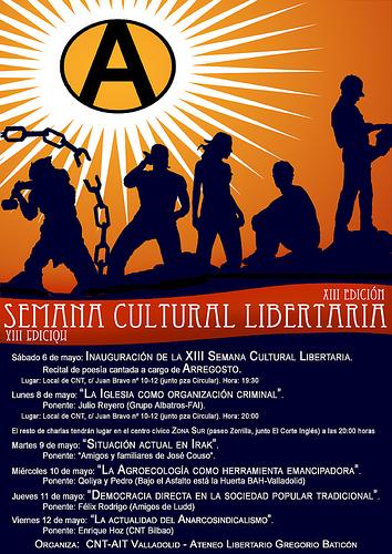Cartel semana cultural libertaria
