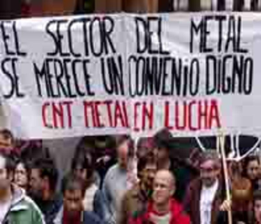 Pancarta de CNT-Metal