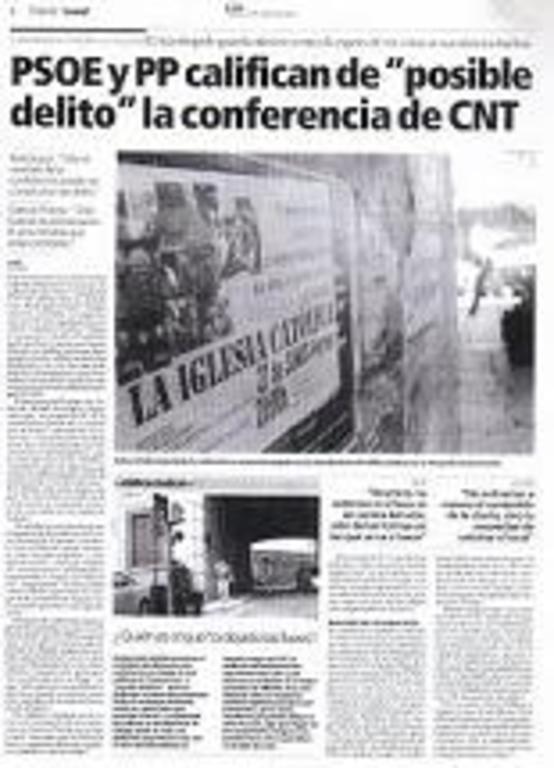 Los periódicos locales respaldaron la campaña contra la CNT