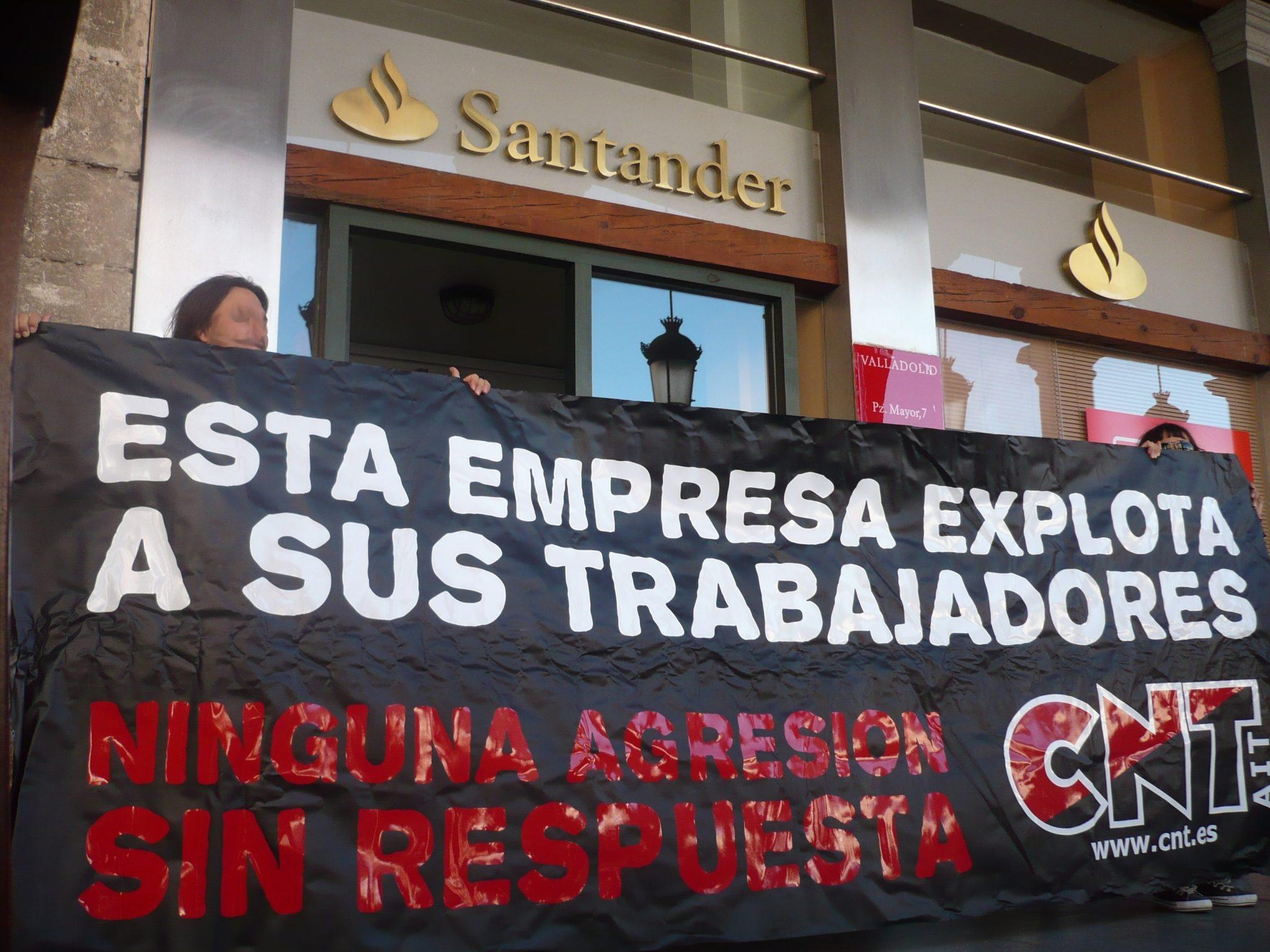 Fotos cnt valladolid informa sobre el conflicto isban for Oficina banco santander valladolid