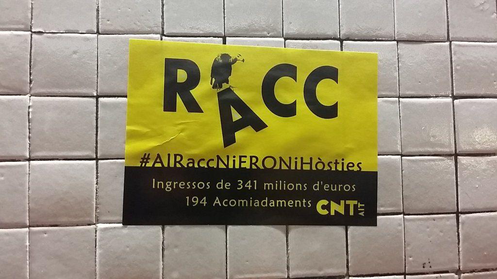 Nuevo piquete solidario en racc cnt valladolid for Oficines racc